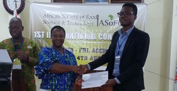 Vincent Abe-Inge wins Best Poster Award at the 1st ASoFoST International Conference